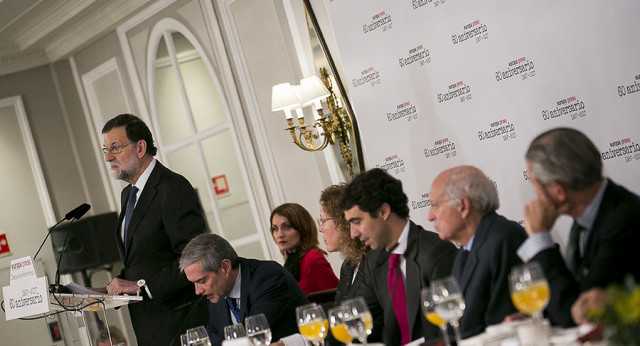 Mariano Rajoy interviene en los desayunos de Europa Press