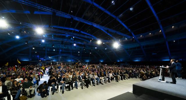 Intervención de Pablo Casado en el cierre de campaña del PP en Madrid