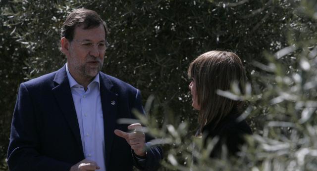 Mariano Rajoy visita un olivar