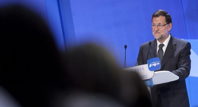 Mariano Rajoy durante su intervención en Zaragoza